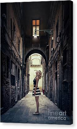 Backstreet Dreamer Canvas Print by Evelina Kremsdorf