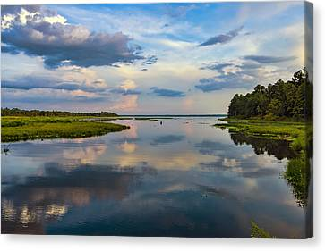 Backwater Sunset Canvas Print by Anthony Baatz