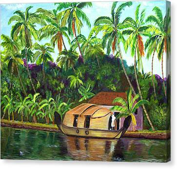 Backwaters Of Kerala Canvas Print