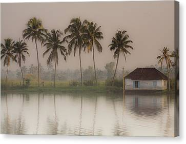 Fine Art India Canvas Print - Backwaters Of Kerala by Andrew Soundarajan