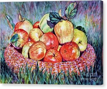 Backyard Apples Canvas Print