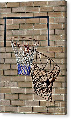 Canvas Print featuring the photograph Backyard Basketball by Stephen Mitchell