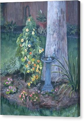 Backyard Canvas Print