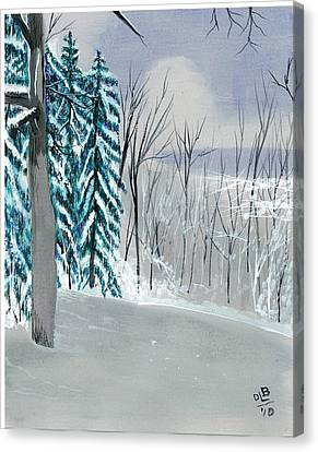 Backyard Snow Canvas Print