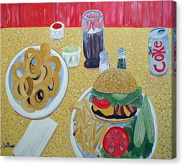 Bacon Cheeseburger Deluxe Canvas Print by Norma Tolliver