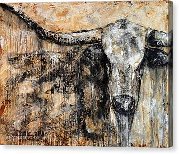 Bad Attitude Texas Longhorn Contemporary Painting Canvas Print