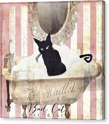 Bad Cat I Canvas Print by Mindy Sommers