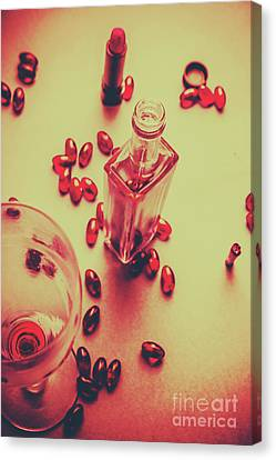 White Wine Canvas Print - Bad Habits by Jorgo Photography - Wall Art Gallery