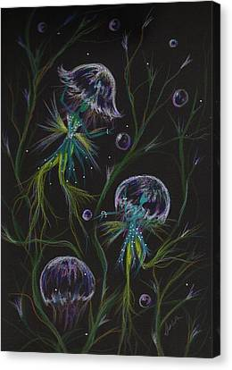 Canvas Print featuring the drawing Bad Hair Day Solutions by Dawn Fairies