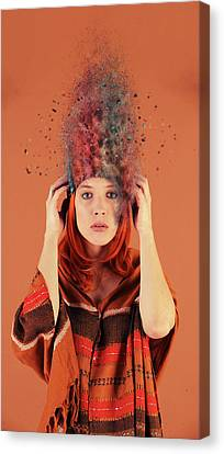 Bad Hair Day Canvas Print by Nichola Denny