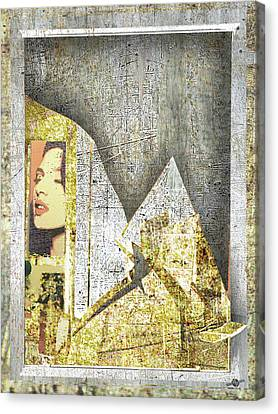 Canvas Print featuring the mixed media Bad Luck by Tony Rubino