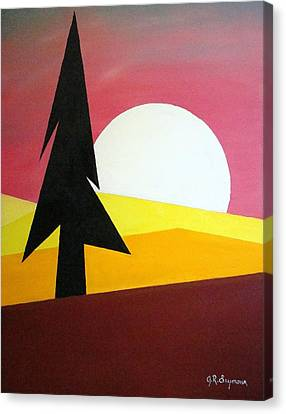 Canvas Print featuring the painting Bad Moon Rising by J R Seymour