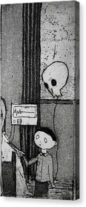 Canvas Print featuring the mixed media Bad News Balloon by Josean Rivera