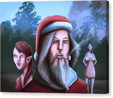 Bad Santa  Sexy Elf Party Canvas Print by Rui Barros