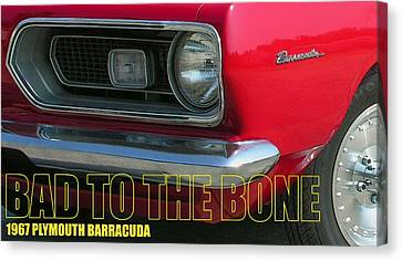 Bad To The Bone Canvas Print by Richard Rizzo