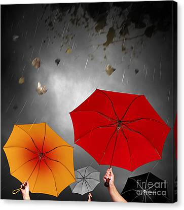 Bad Weather Canvas Print by Carlos Caetano