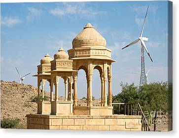Canvas Print featuring the photograph Bada Bagh And Windmill by Yew Kwang