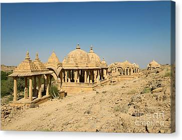 Canvas Print featuring the photograph Bada Bagh Of Jaisalmer by Yew Kwang