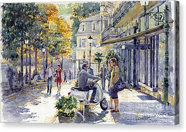 Baden-baden Sophienstr Last Warm Day Canvas Print by Yuriy  Shevchuk