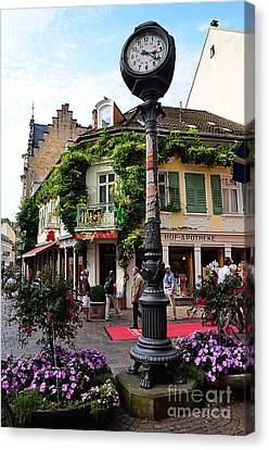 Baden-baden Street Corner, Germany Canvas Print by Elzbieta Fazel