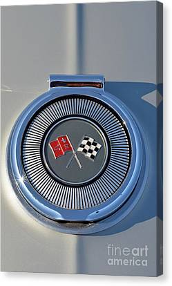 Close Up Canvas Print - Badge Of A 1966 Chevrolet Corvette Sting Ray 427 Turbo-jet by George Atsametakis