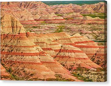 Badland Colors Canvas Print by Steven Bateson