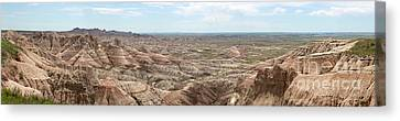 Badland National Park South Dakota Panoramic Landscape Canvas Print by Adam Long