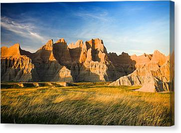 Canvas Print featuring the photograph Badlands In Late Afternoon by Rikk Flohr