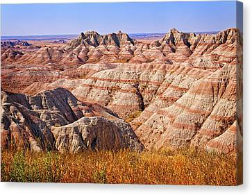 Canvas Print featuring the photograph Badlands by Mary Jo Allen