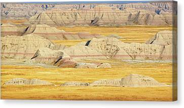 Canvas Print featuring the photograph Badlands Mystique by Al Swasey