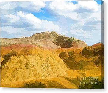 Badlands National Park Abstract Canvas Print by Jennifer Stackpole