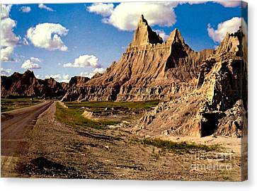 Badlands National Park  Canvas Print by Ruth  Housley