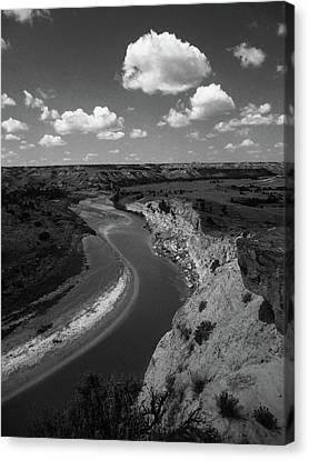 Canvas Print featuring the photograph Badlands, North Dakota by Art Shimamura