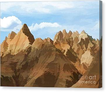 Badlands Peaks Canvas Print by Jennifer Stackpole