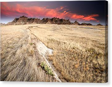 Badlands Sunset Canvas Print by Eric Foltz