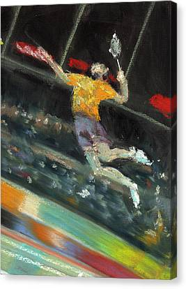 Badminton Player Canvas Print by Paul Mitchell