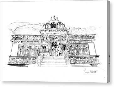 Badrinath Canvas Print by Padamvir Singh