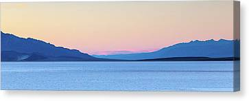 Dry Lake Canvas Print - Badwater - Death Valley by Peter Tellone