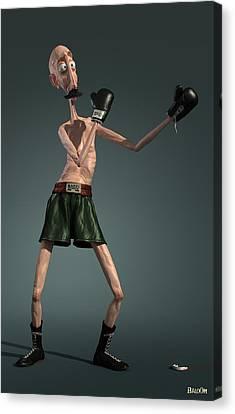 Full-length Portrait Canvas Print - Baffi Storto - The Italian Boxer by BaloOm Studios