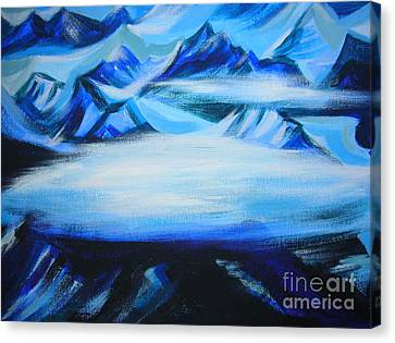Canvas Print featuring the painting Baffin Island by Anna  Duyunova