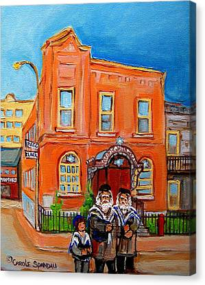 Bagg Street Synagogue Sabbath Canvas Print by Carole Spandau