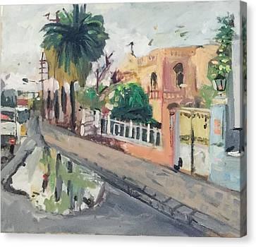Baghdad Old House Canvas Print by Montasir Wali