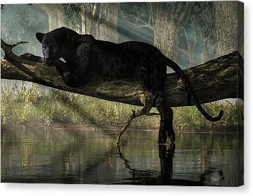 Bagheera Canvas Print by Daniel Eskridge