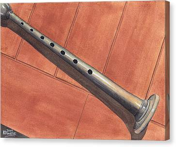 Bagpipe Chanter Canvas Print by Ken Powers