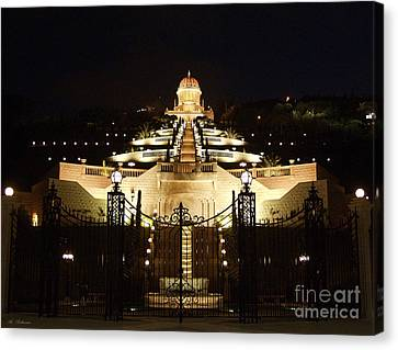 Bahai Shrine At Haifa - Israel Canvas Print by Arik Baltinester