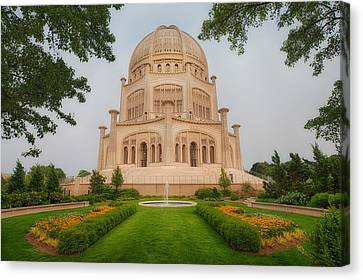 Canvas Print featuring the photograph Baha'i Temple - Wilmette - Illinois by Photography  By Sai