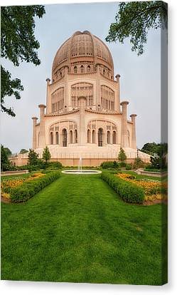 Canvas Print featuring the photograph Baha'i Temple - Wilmette - Illinois - Veritcal by Photography  By Sai