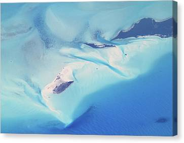 Canvas Print featuring the photograph Bahama Banks Aerial Seascape by Roupen  Baker
