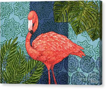 Bahama Flamingo - Horizontal Canvas Print by Paul Brent