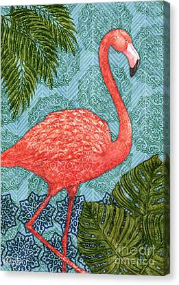 Flamingo Canvas Print - Bahama Flamingo - Vertical by Paul Brent